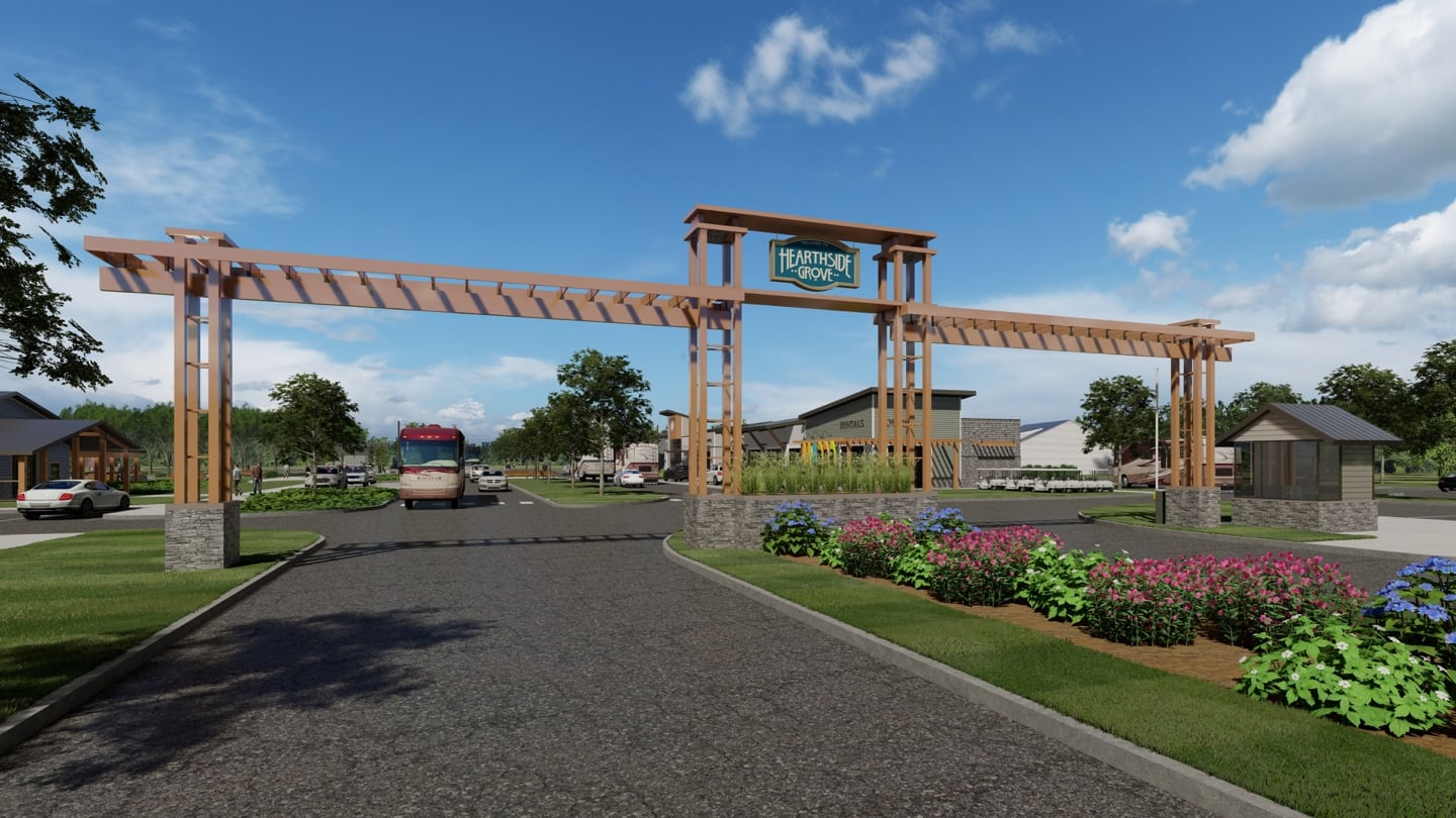 Rendering of Hearthside Grove Lake Erie entrance